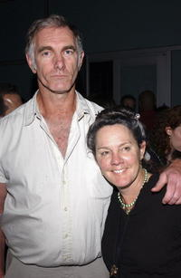 Director John Sayles and Maggie Renzi at the after party of the premiere of