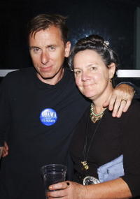 Tim Roth and Maggie Renzi at the after party of the premiere of