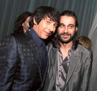 Paul Reubens and Jordi Molla at the premiere of