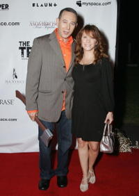 Paul Reubens and Cheri Oteri at the premiere of