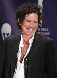 Keith Richards at the 22nd Annual Rock And Roll Hall Of Fame Induction Ceremony.