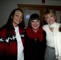 Tantoo Cardinal, Eve Ensler and Jane Fonda at the premiere of