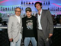 Dennis Hopper, Adam Rifkin and Trevor Groth at the 2007 CineVegas Hollywood Reporter Cocktail party.