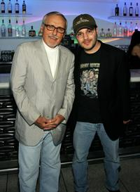 Dennis Hopper and Adam Rifkin at the 2007 CineVegas Hollywood Reporter Cocktail Party.