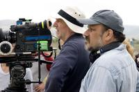 Director Eran Riklis and Cinematographer Rainer Klaussmann on the set of