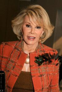Joan Rivers at the Olympus Fashion Week.