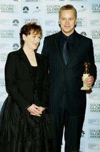 Tim Robbins and Meryl Streep at the 61st Annual Golden Globe Awards.