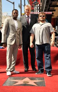 Derek Luke, Tim Robbins and Jack Black at the Hollywood Walk of Fame.
