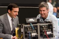 Steve Carell and Director Peter Segal on the set of