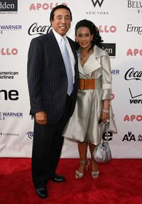 Smokey Robinson and Frances Robinson at the Apollo Theater Fourth Annual Hall of Fame Induction ceremony.