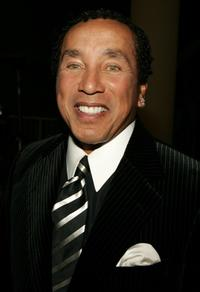 Smokey Robinson at the Society of Singers 14th Annual Ella Awards cocktail reception.