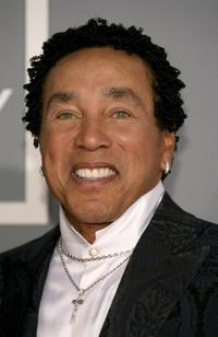 Smokey Robinson at the 49th Annual Grammy Awards.