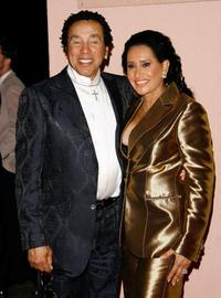 Smokey Robinson and guest at the Sony/BMG Grammy party.