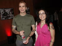 Henry Rollins and Janeane Garofalo at the private screening of