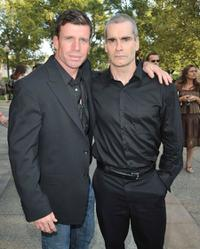 Tayler Sheridan and Henry Rollins at the season two premiere of