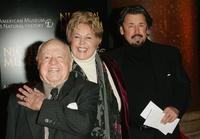 Mickey Rooney, Jan Rooney and Chris Rooney at the premiere of