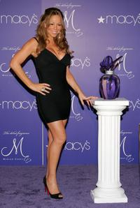 Mariah Carey at the launch event for her new fragrance at Macy's Herald Square.