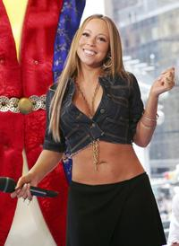 Mariah Carey at the MTV's Total Request Live.