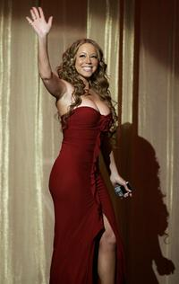 Mariah Carey at the 20th Annual Soul Train Music Awards.