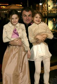 Paul Ross and his daughters at the world premiere of