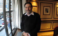 Screenwriter Eric Roth on the set of