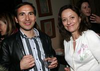 Patrice Courtaban and Brigitte Rouan at the City Of Lights, City Of Angels French Film Festival Cocktail Party.