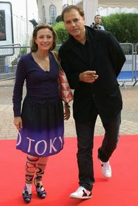 Brigitte Rouan and Enki Bilal at the premiere of