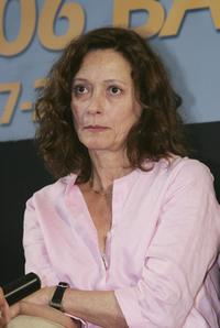 Brigitte Rouan at the press conference during the Bangkok International Film Festival.