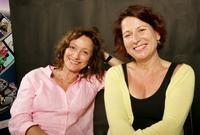 Brigitte Rouan and Diane Bertrand at the photo shoot during the Bangkok International Film Festival.
