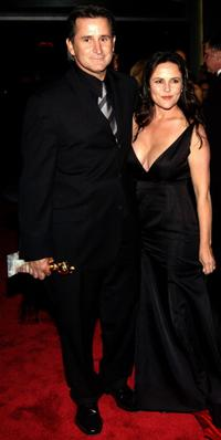 Gia Carides and Anthony LaPaglia at the Universal-Focus Features during the 61st Annual Golden Globe Awards.