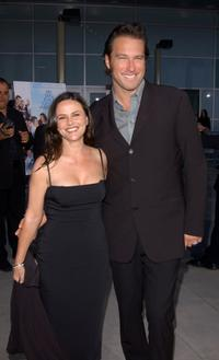 Gia Carides and John Corbett at the premiere of