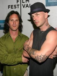 Dick Rude and Tim Armstrong at the Tribeca Film Festival.