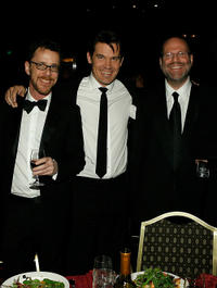 Director Ethan Cohen, Josh Brolin and Scott Rudin at the 60th Annual DGA Awards.