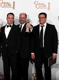 David Brunetti, Scott Rudin and Michael DeLuca at the 68th Annual Golden Globe Awards.