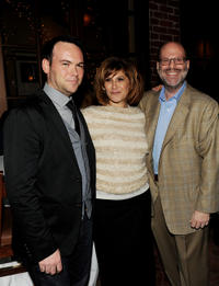 Producer Dana Brunetti, Amy Pascal and Scott Rudin at the Blu-ray & DVD launch party of