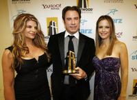 Kirstie Alley, John Travolta and his wife Kelly Preston at the 11th Annual Hollywood Awards - backstage.
