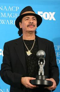 Carlos Santana at the 37th Annual NAACP Image Awards.