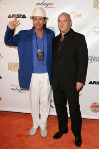 Carlos Santana and Richard Beckman at the Intimate Evening with Santana presented by Conde Nast Media Group.