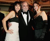 Maximilian Schell, his wife Elisabeth Michitsch and Stephanie Stumph at the 2nd annual Semper Opera Ball in Dresden Germany.