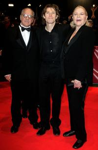 Paul Schrader, Willem Dafoe and Lauren Bacall at the 57th Berlin International Film Festival.