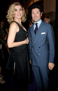 Milly Carlucci and Matteo Marzotto at the Glamour Party during the Milan Fashion Week Womenswear Spring/Summer 2011.