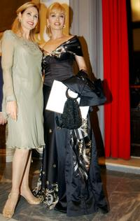 Milly Carlucci and Princess Ruspoli at the Heart Of Children benefit gala.