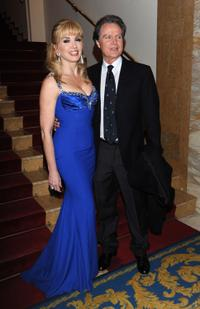 Milly Carlucci and Angelo Donati at the photocall of
