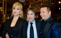 Milly Carlucci, Fabrizio Del Noce and Paolo Belli at the photocall of