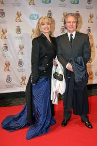 Milly Carlucci and husband at the Italian TV Awards
