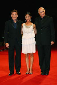 Benoit Magimel, Lika Minamoto and Barbet Schroeder at the premiere of