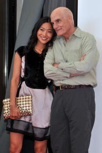 Lika Minamoto and Barbet Schroeder at the photocall of