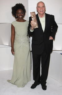 Aissa Maiga and Barbet Schroeder at the Cesar Film Awards 2008.