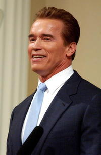 Arnold Schwarzenegger gives his first State of the State address in the Assembly Chambers of the California State Capitol.