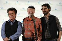 John Mellencamp, Pete Seeger and Tao Seeger at the Clearwater Benefit Concert celebrating Pete Seeger's 90th Birthday.